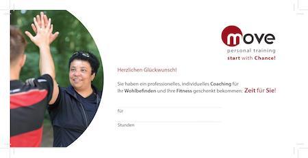 Geschenkgutschein Personal Training Bremen - Move Personal Training
