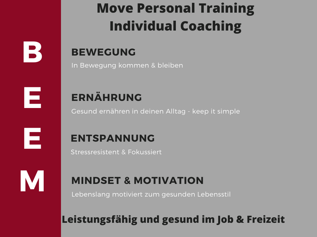 Move Personal Training ganzheitliches und individuelles Coachingkonzept für Vitalität und Leistungsfähigkeit